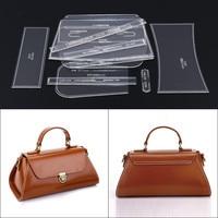 1Set DIY Leather Handmade Craft Women Handbag Shoulder Bag Sewing Pattern Laser Cut Acrylic Stencil Template