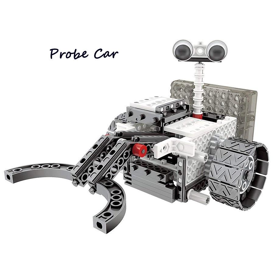 DIY RC Blocs 4-en-1 Construction Ensemble RC Robotique Vechicles Motorisé L'exploration Spatiale Science Robots SOUCHES éducatifs modèle kit - 3
