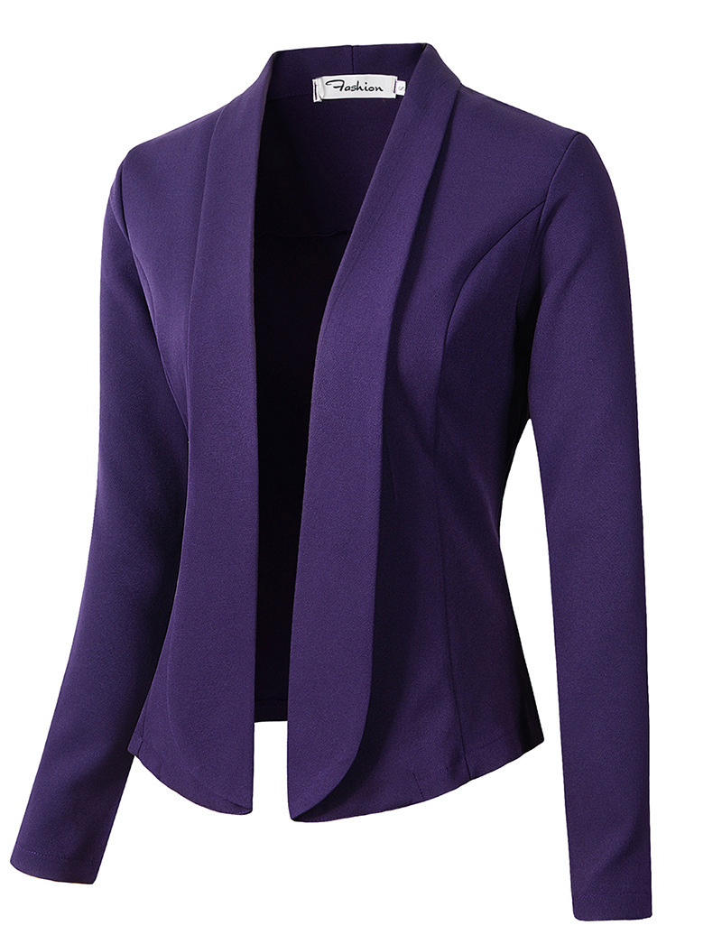 ZOGAA 2019 Fashion spring Autumn Women Work Office Lady Suit Slim None Button Business Female Casual blazers and jackets