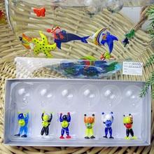 Munuola style multi colored glass float aquarium charm decorative miniature hand blown sculpture diver