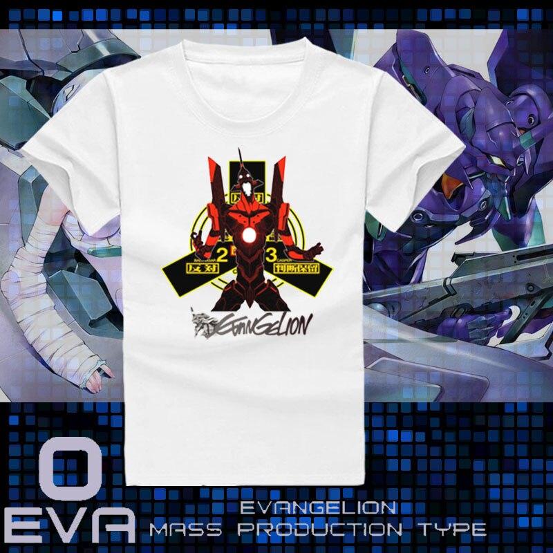 EVA Ayanami Rei Аска Лэнгли Сорю Косплей Футболка Аниме Футболка Neon Genesis Evangelion Летние Студенческие Тис