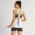 Alta Estiramento Sexy Tanque Branco Tops Loose Women Impressão de Moda de Nova Top Safra 100% Algodão Wicking Casual Bralet Regata Feminina