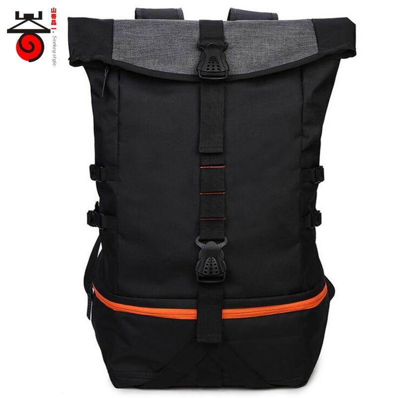 2018 New Large Capacity Men s Backpacks Practical Multi functional Travel Bag Fashion Casual Waterproof Nylon