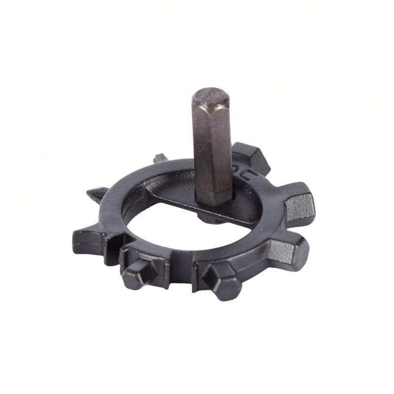 Stainless Steel EDC 12 Functions Screwdriver Key Ring Bottle Opener Bicycle Adjust Outdoor Survival Tools