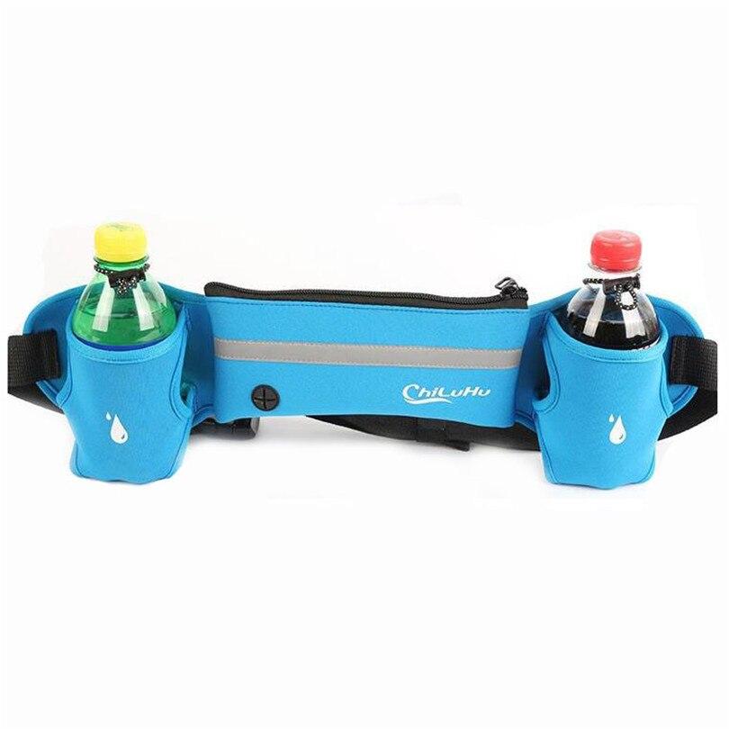 Botella de Agua Paquete de Camping Hombres Cinturón de Peso Ligero de Senderismo
