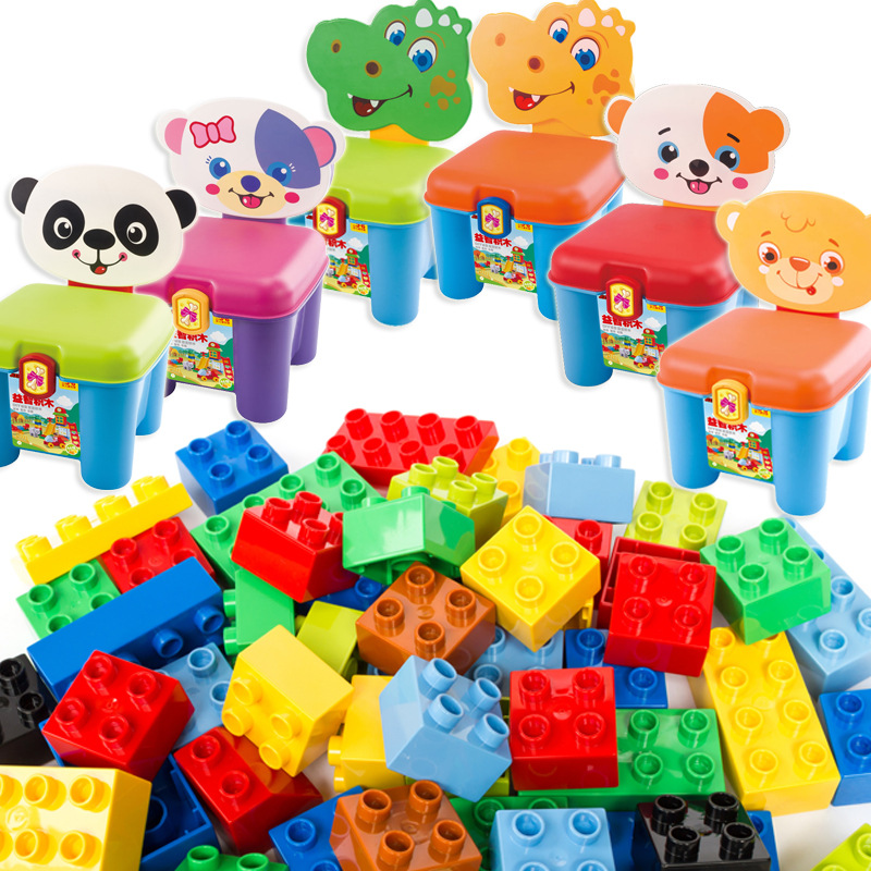 46pcs Big Building Blocks Self-locking Bricks Educational Toys for Children Baby Toys Best Gift Compatible with all brands toys 100pcd pack children snowflake match building blocks colorful self locking bricks 3 5cm big plastic blocks kids educational toys