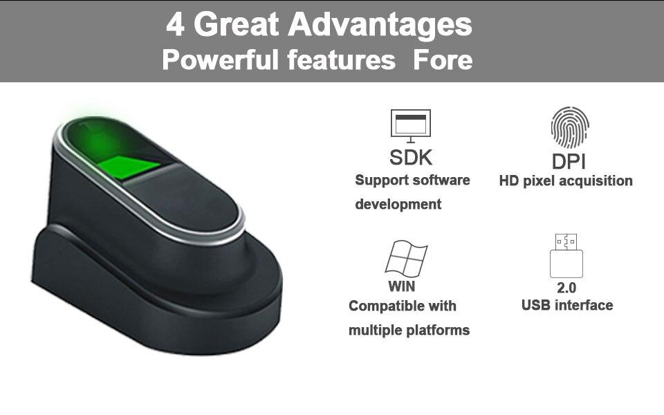 Eseye USB Fingerprint Reader Free SDK Fingerprint Sensor Biometric  Fingerprint Scanner Portable Personal With SDK Windows Linux