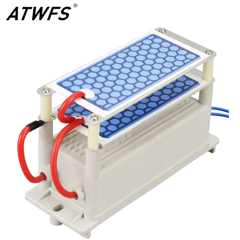ATWFS New Arrival  Ultra Heavy Duty Ozone Generator 110v 10g Ozonizer Air Purifier Long Life Ceramic Plate Ozone Sterilizer