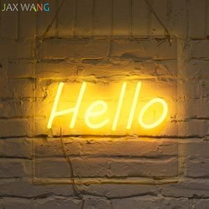 Image 4 - Led Ins requisiten lichter Bekleidungsgeschäft Studio decor neon nachtlichter rosa mädchen herzform Hallo neon decor leuchten