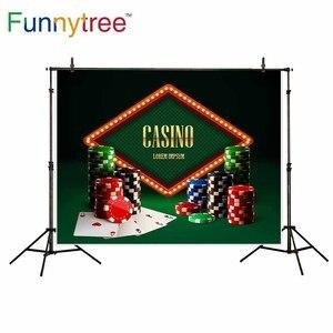 Image 2 - Funnytree Casino Chips Đèn Vintage Biểu Ngữ Và Thẻ Trang Trí Nền Cho Ảnh