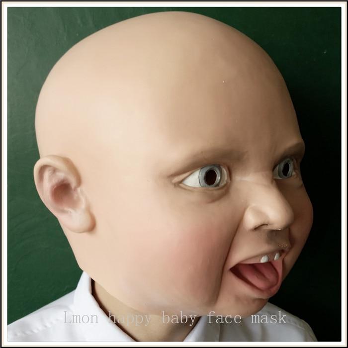 Novi smiješno lateks zgražati Sretan plakati beba kostim maska - Za blagdane i zabave - Foto 2