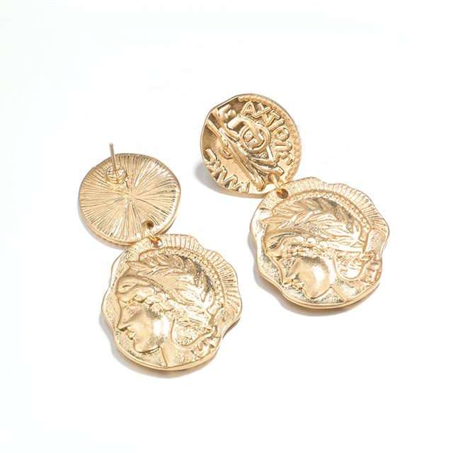 docona Vintage Engraved Coin Drop Dangle Earrings for Women Figure Face Long Round Coin Pendant Earring.jpg 640x640 - docona Vintage Engraved Coin Drop Dangle Earrings for Women Figure Face Long Round Coin Pendant Earring Pendientes 4897