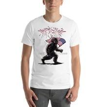 80a34ba43c7 Sasquatch 4th of July Shirt USA Shirt Cryptic Bigfoot Patriotic Shirt  Graphic Tee Funny T Shirt