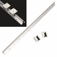 1pc 600mm Length SBR12 Fully Supported Linear Bearing Rails Shaft Rod 2 SBR12UU Block With Corrosion