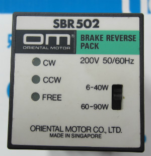 Japonya Oriental Motor valisi KONTROL SBR502Japonya Oriental Motor valisi KONTROL SBR502