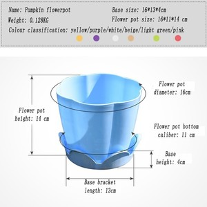 Image 3 - 1PCS Thick Plastic flower fleshy flower Pot Home Gardening Species Strawberry Seedlings Large Potted Green flower Pots with Tray