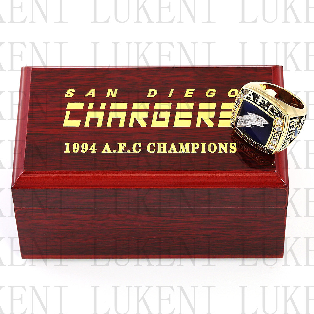 San Diego Chargers Championship Rings: Replica 1994 AFC San Diego Chargers American Football