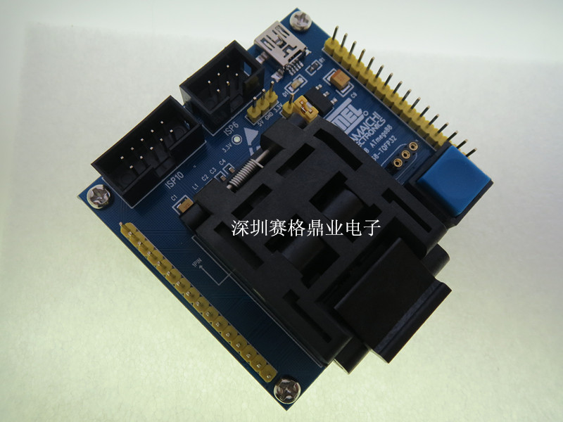 Image 2 - IC51 0324 1488 QFP32 TQFP32 ATmega8 IC testing seat  test bench Test Socket Programming Socket Burn in Socket New&Original-in Integrated Circuits from Electronic Components & Supplies