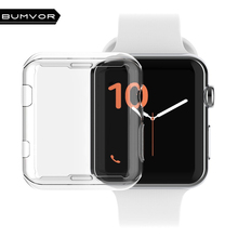 38mm/42mm Crystal Ultra Thin Hard PC Plastic Transparent protective shell Clear Case Cover for Apple Watch Series 1/  2 / 3 стоимость