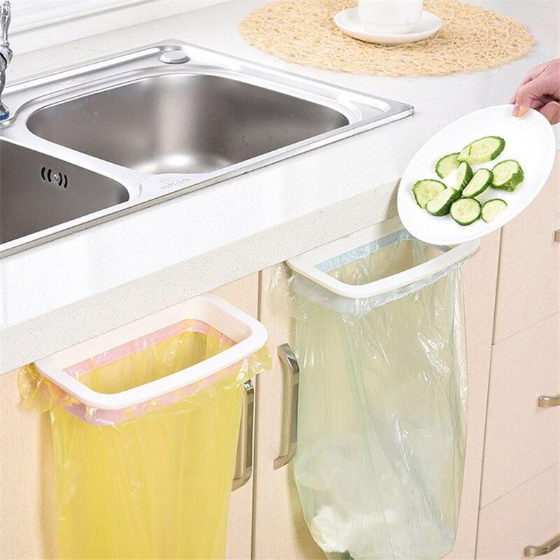 US $2.54 20% OFF|1Pcs Kitchen Gadgets Cabinet Door Garbage Bag Shelf  Kitchen Goods Rack Hanging Storage Trash Rack Accessories for Kitchen.B-in  ...