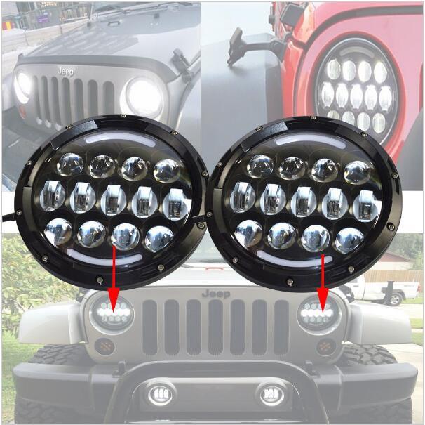 ФОТО 2 piece For Jeep Headlights 7