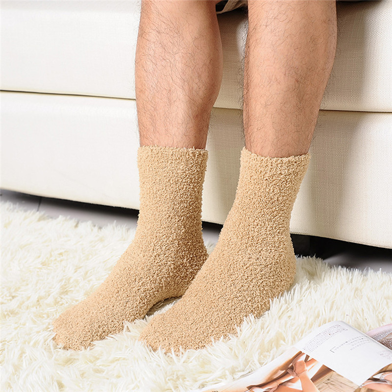 Extremely Cozy Cashmere Socks Men Women Winter Warm Sleep Bed Floor Fluffy Vi
