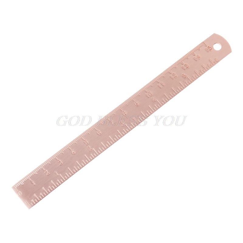 Vintage Copper Brass Ruler Bookmark Label Book Mark Cartography Painting Measuring Tool Office School Stationery