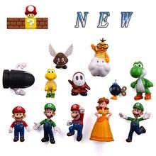New 12/18PCS Mario magnet cartoon super decoration fridge magnets large size Creative PVC powerful Kid Gift
