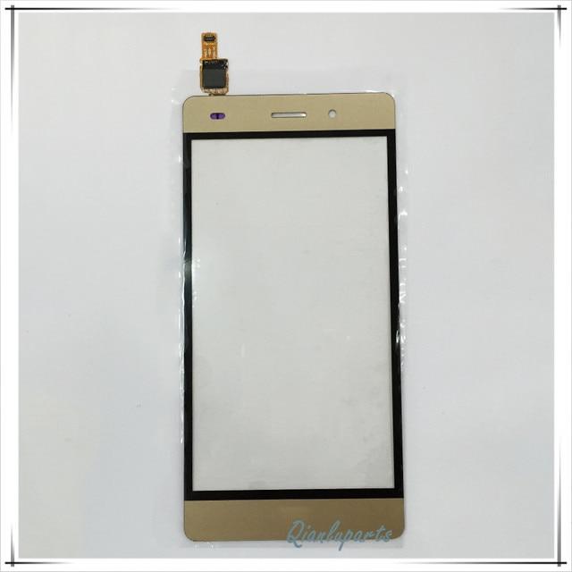 """Золотой Цвет 5.0 """"оригинальный Сенсорный Экран Для Huawei P8 lite Передняя Панель Внешний Стекло Датчик Планшета Для Huawei P8 lite Сенсорный Экран"""