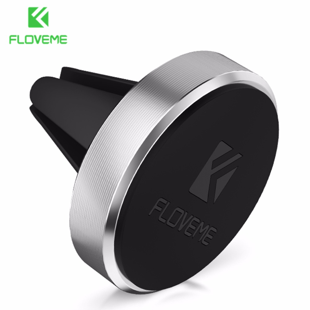 FLOVEME Car Phone Holder for iPhone 5S Magnetic Air Vent Mount Stand 360 Rotation Phone Holder for Xiaomi Redmi 4 4X Accessories