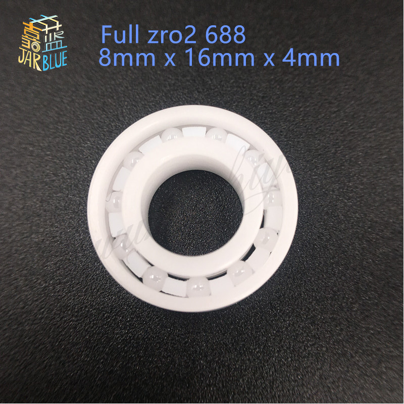 Free shipping 2pcs/lot Full zro2  688 open Ceramic bearings 8*16*4mm zirconia bearing  11 zro2 balls for hand spinner skate free shipping 50pcs lot miniature bearing 688 688 2rs 688 rs l1680 8x16x5 mm high precise bearing usded for toy machine