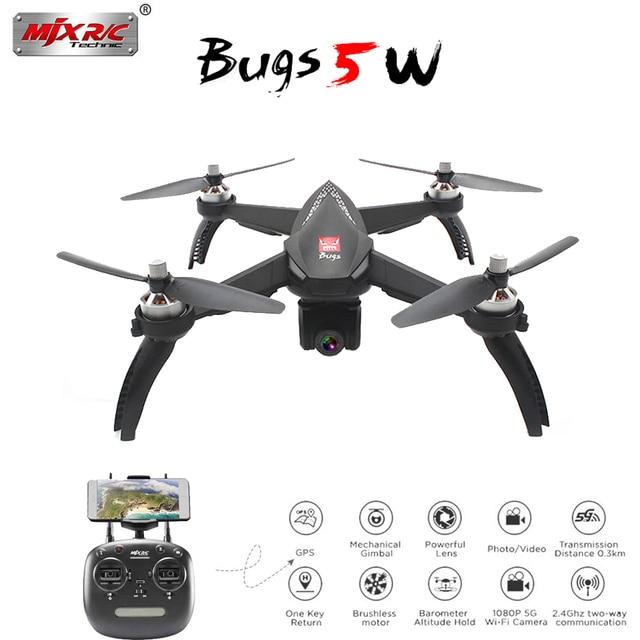 MJX Bugs 5W 5 W GPS RC Drone with WIFI FPV 1080P HD Camera Auto Return Follow Me Mode RC Quadcopter VS MJX Bugs 3 Pro B2W B3H
