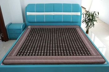 Jade Gauze Germanium Stone Mattress Double Heated Mat Ghysiotherapy Encryption Tourmaline Magnetic Therapy Pad Size 1.2*1.9M