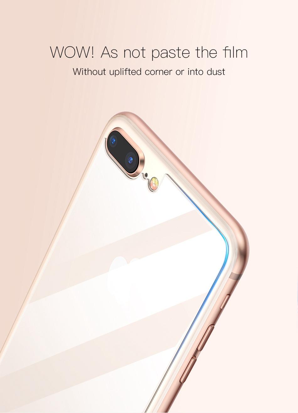 Miếng dán kính cường lực mặt sau lưng cho iPhone 7 Plus / iPhone 8 Plus hiệu Baseus