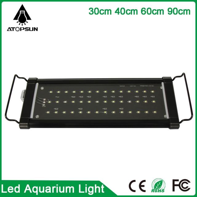 1pcs 30cm 40cm 60cm 90cm Led Aquarium Lighting fish tank lamp White+Blue Marine aquarium led lighting for Coral reef Fish pet