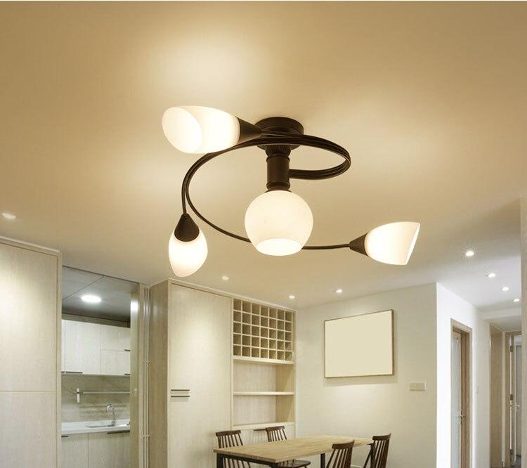 Creative metal ceiling lamp art European Flushmount Ceiling Lamp lampadas led casa lampara de techo led moderna led lampara tech art tech