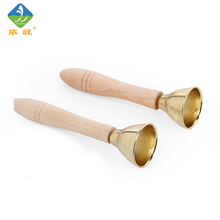 Toy Woo Wooden And Metal Shaking Bell  Noise Maker Hand Clapper For 1~6 Years Old Children Music Early Education Toys