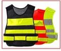 Novo estilo de hong kong malha respirável colete refletivo com velcro em dois shouldersTraffic segurança vestuário reflector