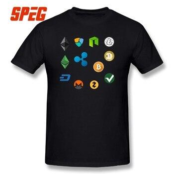 T-Shirt Bitcoin and altcoins logos