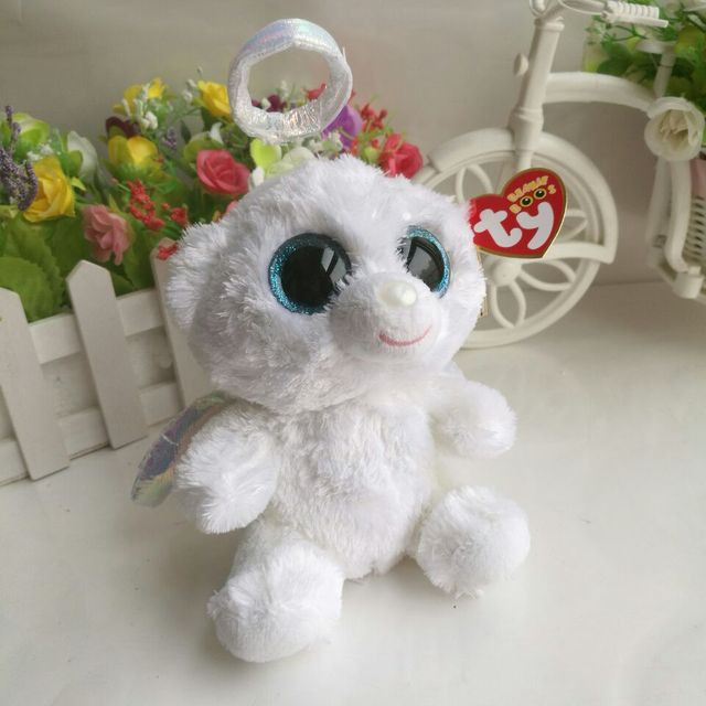 e2adcb95a1c Halo bear TY BEANIE BOOS 1PC 15CM BIG EYES Plush Toys Stuffed animals  children toy SOFT