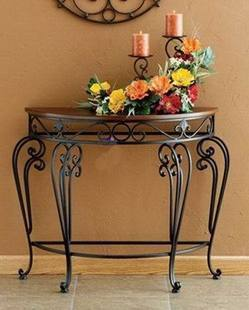 Charmant Continental Iron Coffee Table And A Few Side Tables , Wrought Iron ,  Wrought Iron Entrance Half Round Table End Table , Wrought In Waiting  Chairs From ...