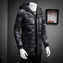 Hot men winter coat fashion camouflage multi pockets hooded parka men high quality white duck down.jpg 250x250