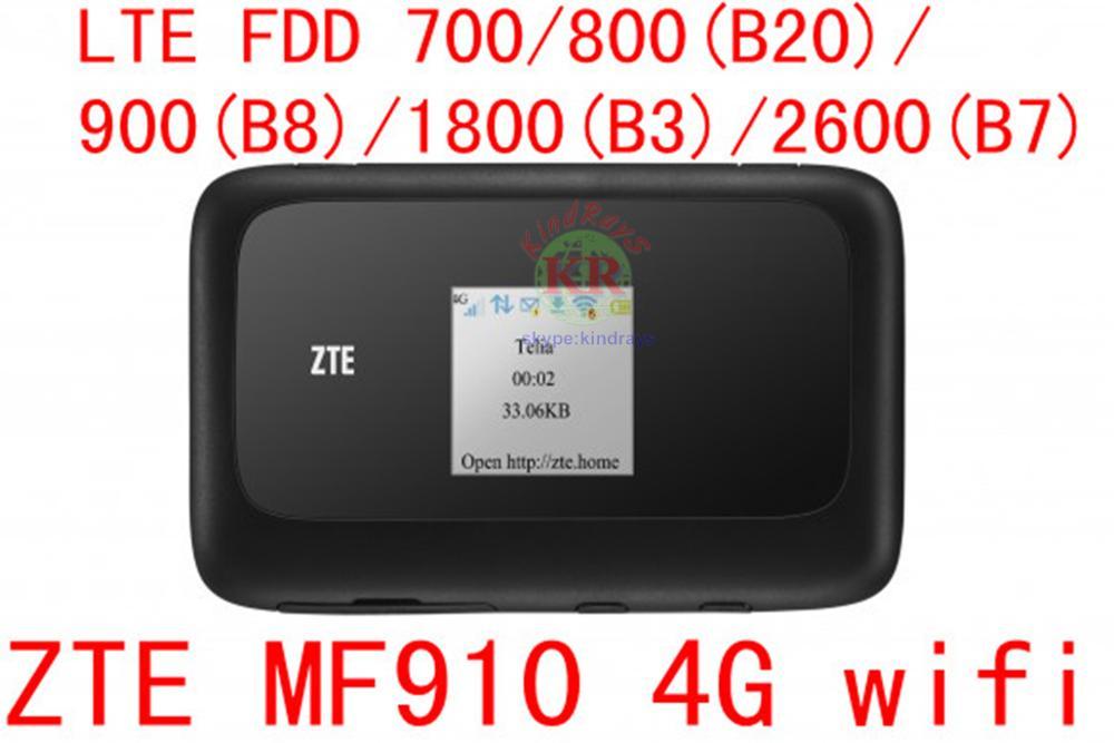 Débloqué ZTE MF910 LTE 4G WIFI Routeur 4G wifi dongle Mobile Hotspot 150 Mbps Réseau Routeur pk mf90 MF970 mf91