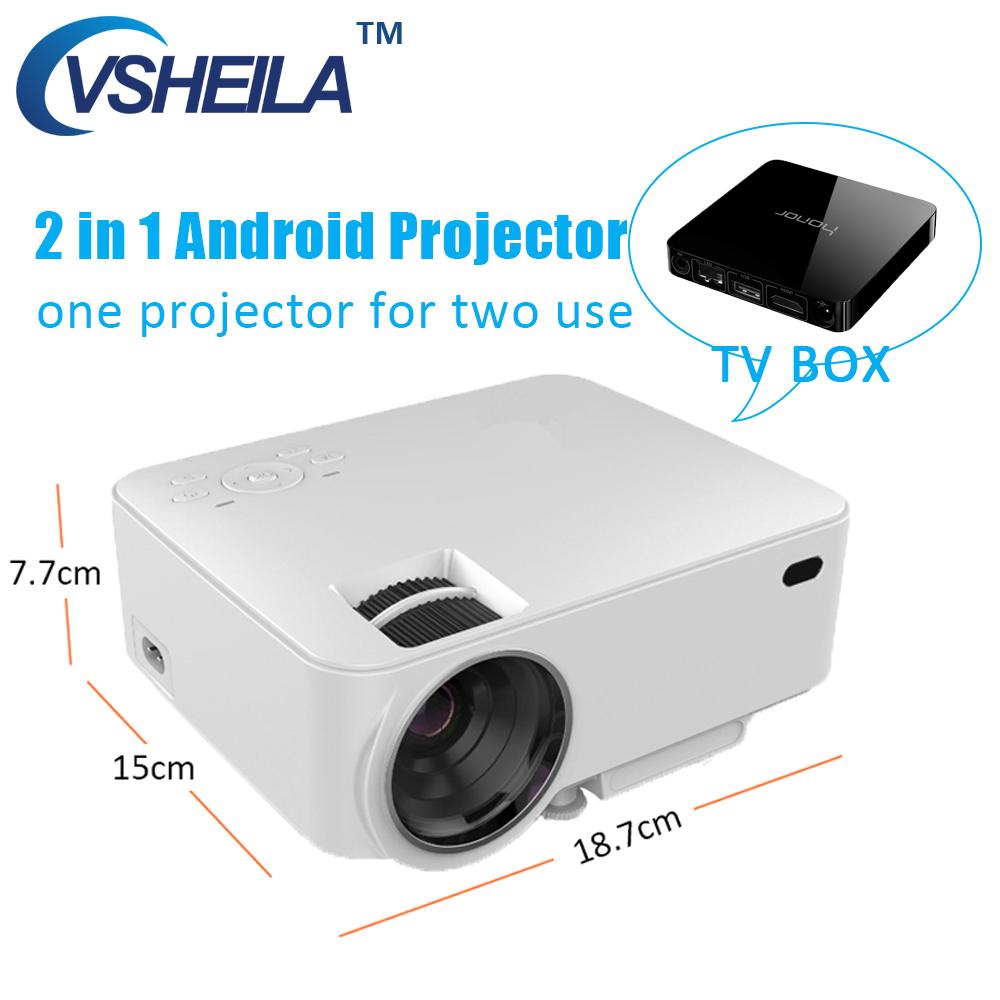 Prix pour Mini Vidéo Projecteur LCD Android 4.4 Wifi Bluetooth LED Projecteur Wifi Affichage 120 ''pour Home Cinéma TV Visualisation Multimédia HDMI