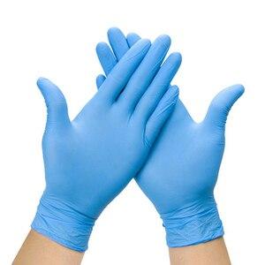 Image 4 - Wegwerp Zwarte Handschoenen 20Pcs Huishoudelijke Schoonmaakmiddelen Wassen Handschoenen Nitril Laboratorium Nail Art Tattoo Anti Statische Handschoenen