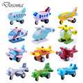 12pcs/set Wooden Mini Aircraft Complete Set Education Toys Kids Multicolor Helicopter Wooden Airplane Model Toys Baby Kids Gifts