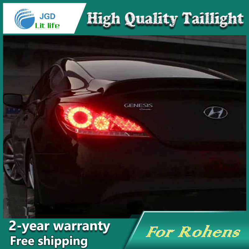 Car Styling Tail Lamp for Hyundai Rohens Tail Lights LED Tail Light Rear Lamp LED DRL+Brake+Park+Signal Stop Lamp 1 x t25 3157 50w led car auto signal brake stop tail light bulb signal lamp white external lights