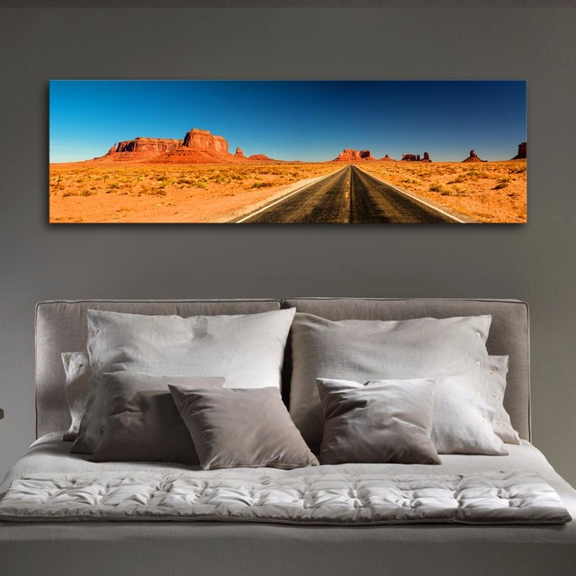 Gran Panorámica carretera Desierto Paisaje Moderno Arte de La Pared ...
