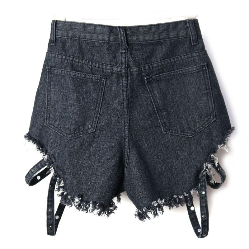 Fashion Sexy Denim Shorts Women Jeans Feminino Mujer Punk Rock Rivet Casual Hot Vintage Short Trousers Women