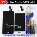 Alta calidad nuevo meizu digitalizador de pantalla táctil + pantalla lcd asamblea para meizu m3s mini meilan 3 s negro/blanco Color